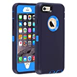 Case for iPhone 6/6s,[Heavy Duty] Armor 3 in 1 Built-in Screen Protector Rugged