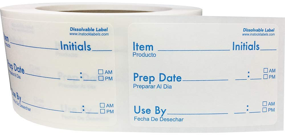 Etiquetas de rotación de alimentos disueltas para almacenamiento ...