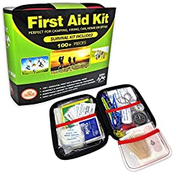 Elite Provisions First Aid Kit - 102 Items for Emergency & Survival - Camping - Hiking - Home - Travel - Car - Outdoor - Sports - Compact Easy Storage Case