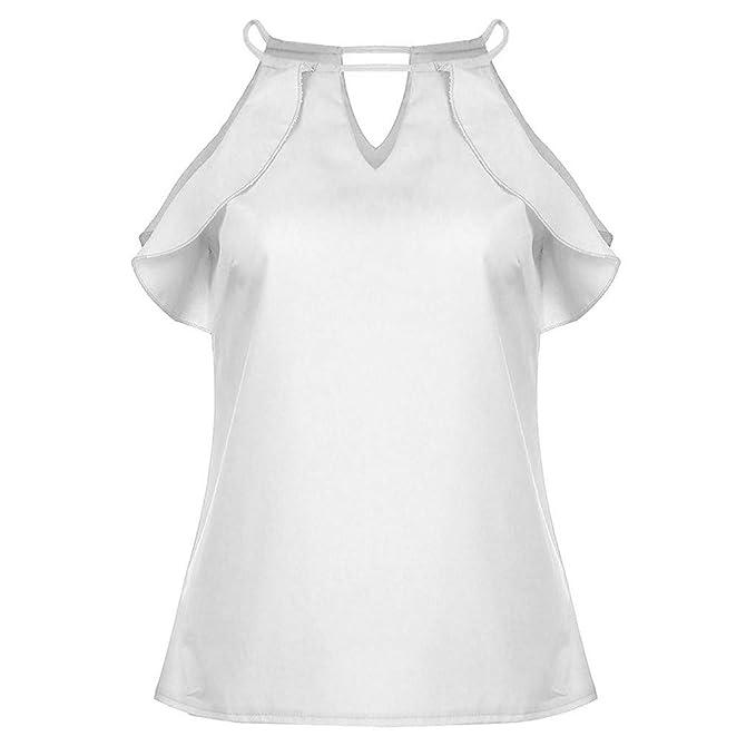 5499d7535b NPRADLA Leisure Trend Donna Senza Maniche Maniche Lunghe Camicia ...