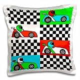 Best 3dRose Boy Stuffs - 3dRose Boy Stuff Blue Red Green Racecars Checkered Review