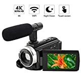Best high zoom camcorder - 4K Camcorder Video Camera WiFi Camcorder 48MP Ultra Review