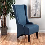 Cheap Sheldon Dark Blue Fabric Dining Chair
