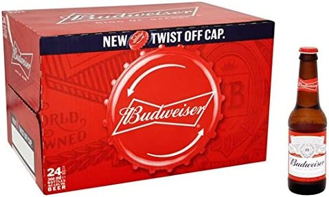 Botellas de cerveza Budweiser 24 x 300ml