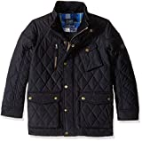 Joules Little Boys' Stafford Quilted Coat, Marine Navy, 3