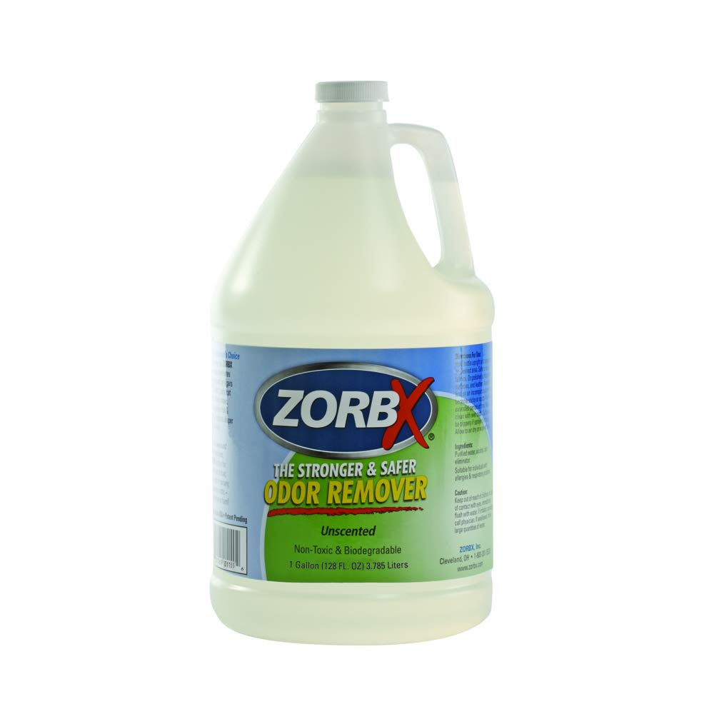 ZORBX Unscented Multipurpose Odor Remover –Safe for All, Even Children, No Harsh Chemicals, Perfumes or Fragrances, Stronger and Safer Odor Remover Works Instantly (1 Gal)