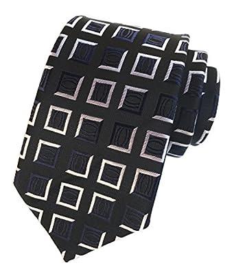 Elfeves Men's Classic Geometry Jacquard Woven Ties Formal Party Suit Neckties