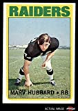 #8: 1972 Topps # 54 Marv Hubbard Oakland Raiders (Football Card) Dean's Cards 5 - EX Raiders