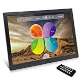 XYmart Digital Picture Frame, 15.4 Inch 1280 x 800 High Resolution Photo/Music/HD Video Player/Calendar/Alarm Auto On/Off Advertising Player With Remote Control