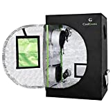 24''x24''x36''Mylar Hydroponic Grow Tent with Obeservation Window and Floor Tray for Indoor Plant Growing 2'x2' (24''x24''x36'')