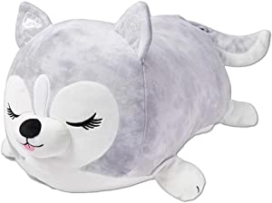 """Heather the Husky 20"""" Jumbo Squishmallow from Justice - Kids Stuffed Animal Plush Pillow - Dog Body Pillow for Hugging, Sleeping, Office, Decoration, and Travel"""