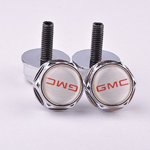 D/&R/® 4 Pcs Separate Chrome LICENSE PLATE FRAME Bolt Screws For GMC
