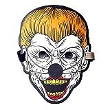 Clearance Sale!UMFun Party Version Sound Reactive LED Mask Dance Rave Light Up Adjustable Mask Dance Mask (D)