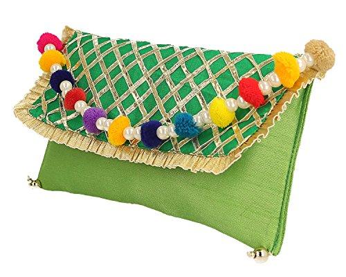 work embrayage Splendid pour designer criss cross belle les femmes main sac India à gota nP0wqr0HXA