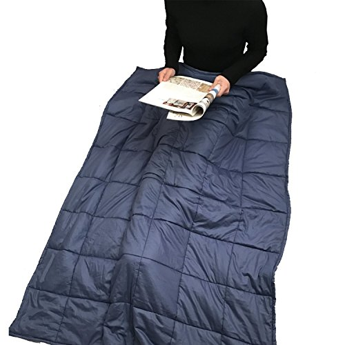 "Weighted Blanket by Panda Dady - Teen/Adult - For Sensory Integration - Navy Blue - Large Size (54""W x 72""L) (15 lbs for 150 lb person)"