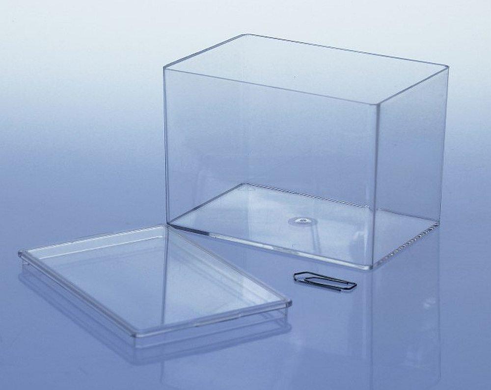 10 x Variocolors Klarsichtdosen transparent 95x65x65mm Kunststoffbox mit Deckel