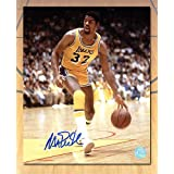 Magic Johnson Los Angeles Lakers Autographed Showtime Basketball 8x10 Photo - Authentic Autographed Autograph