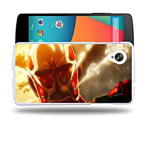 Case88 Designs Attack on Titans Bertolt Hoover Colossal Titan Protective Snap-on Hard Back Case Cover for LG Nexus 5
