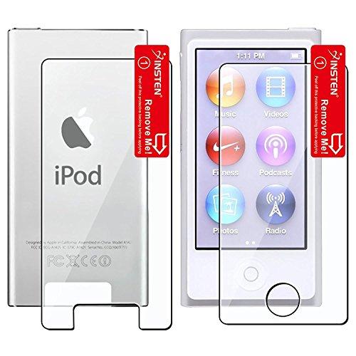 Insten 2 LCD Kit Reusable Screen Protectors for iPod nano 7G