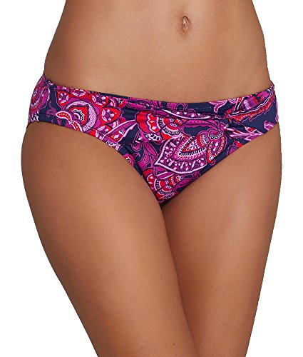 Tommy Bahama Jacobean Floral Bikini Bottom, S, Orchid - Twist Front Hipster