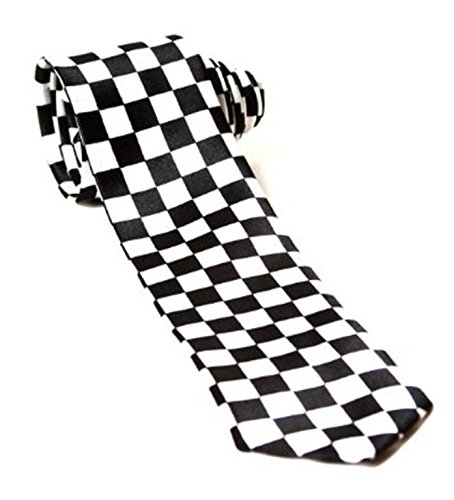 Childrens Kids Boys Girls Police Policeman Black White Chequered Tie Fancy Dress Accessory by Blue Planet - Online Planet Blue