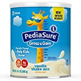 PediaSure Grow & Gain Non-GMO Vanilla Shake Mix Powder, Nutrition Shake for Kids, 14.1 oz, 3 Count