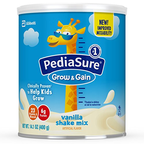 PediaSure Grow & Gain Non-GMO Vanilla Shake Mix Powder, Nutrition Shake for Kids, 14.1 oz, 3 Count by Pediasure (Image #12)