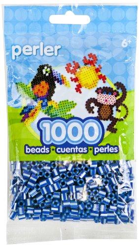 Perler Striped Beads 1,000/Pkg-Royal Blue Pearl