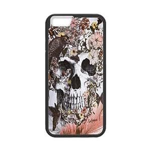 IPhone 6 Plus Case, Birl Skull Skeleton Fashion Case for IPhone 6 Plus {Black}