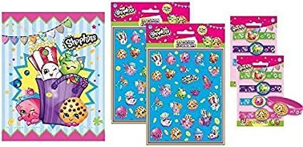 Party Loot Bag Filler Shopkins Sticker Sheets x 6 Party Pack