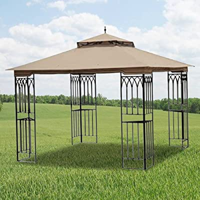 Garden Winds Steel Frame Gazebo Replacement Canopy Top Cover - RipLock 350 : Garden & Outdoor