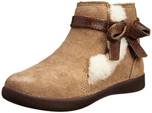 T LIBBIE Boot, Chestnut, 9 (Youth Brown Patent Footwear)