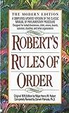 Robert's Rules of Order, Darwin Patnode, Henry M., III Robert, 0840771991