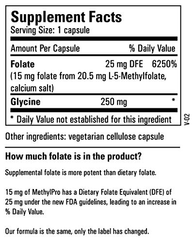 Metabolic Maintenance L-Methylfolate 15 mg - Active Folate (L-5-MTHF) for Mood, Nerve + Cardiovascular Support (60 Capsules) by Metabolic Maintenance (Image #5)