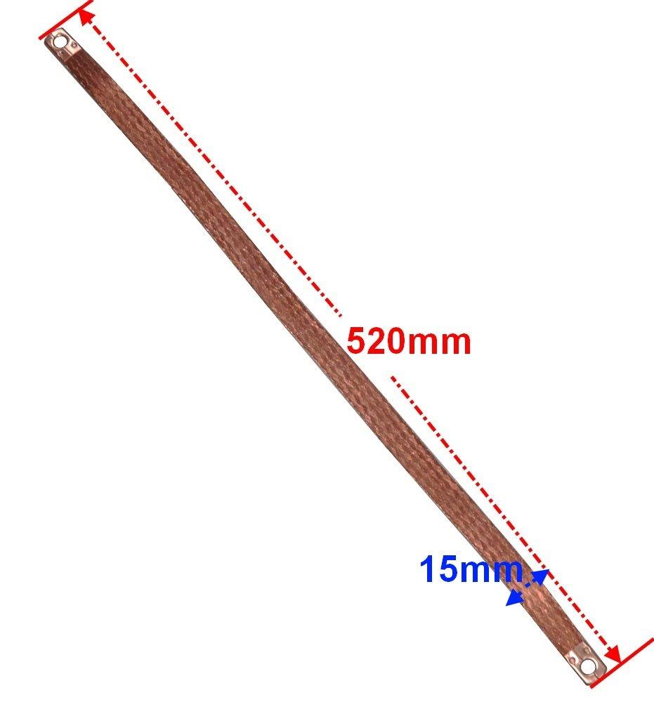 Cavo di massa treccia terra polo negativo per la batteria 50 cm . Aerzetix