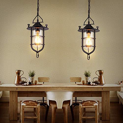 FidgetFidget Retro Loft Chandelier Ceiling Light Fixtures Bar Restaurant Pendant Lamp Lantern by FidgetFidget (Image #7)