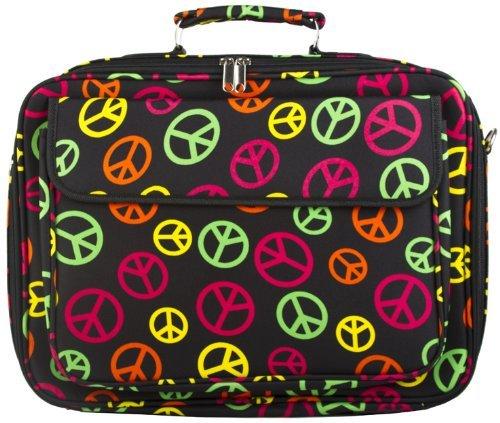 Multi-color Peace Sign 17 Inch Computer Laptop Case Bag Review
