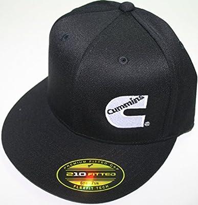 Amazon.com  Cummins Hat Ball Cap Fitted Flex Fit Flat Bill Flexfit Stretch  Cummings Ram S m  Sports   Outdoors 654cb68ee74f