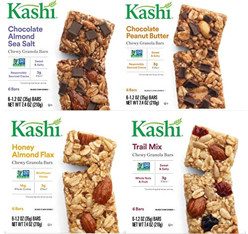 Kashi Chewy Bar Variety Pack, Mixed, 29.6 Ounce (Peanut Butter Kashi)