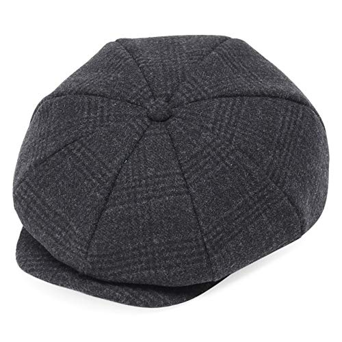 Cap for Men Women Gatsby Hat for Men 1920s Mens Gatsby Costume Accessories (Plaid Dark Gray) ()