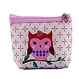 LZIYAN Cute Coin Purse Cartoon Owl Pattern Coin Purse Clutch Bag Portable Small Wallet With Zipper Storage Bag Creative Gift For Women,3#