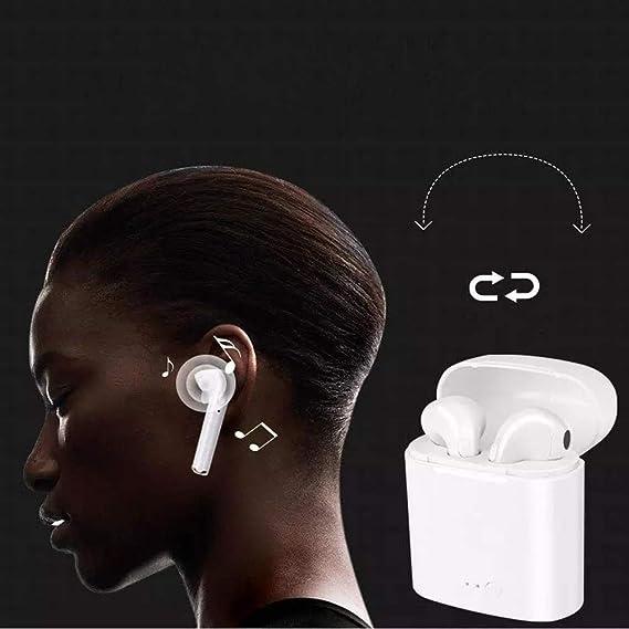 Loyiigo Auriculares Bluetooth in Ear Bluetooth Manos Libres y Cancelación de Ruido para iPhone Samsung y Android: Amazon.es: Electrónica