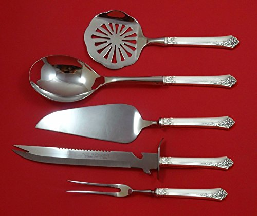 Damask Rose Flatware (Damask Rose by Oneida Sterling Silver Thanksgiving Holiday Set 5pc Custom)