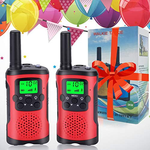 Acehome Kids Walkie Talkies with 2Pcs Whistles & 2Pcs Lanyards, Two Way Radio Long Range Walkie Talky Toy with Flashlight for Boys Girls Birthday Children Day /Christmas Day Gift