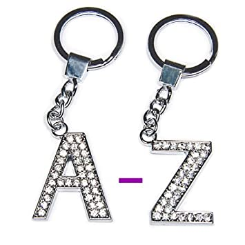 a9943a036d Diamante Bling Crystal Alphabet Letter Key Ring Key Chain Gift Idea (C):  Amazon.co.uk: Office Products
