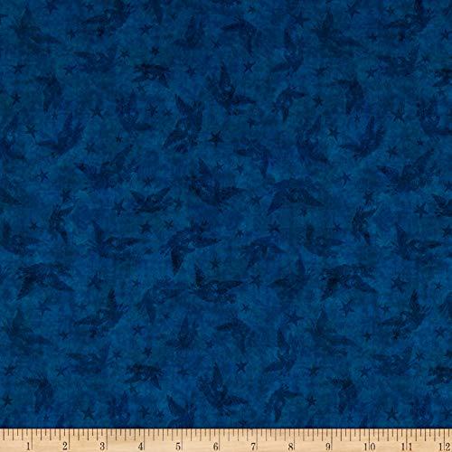 (QT Fabrics American Pride Patriotic Blender Blue Fabric by the Yard )