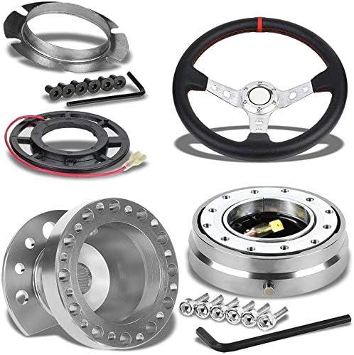 350mm Black Deep Dish Steering Wheel Hub Adapter For Honda CRX 1988-1991