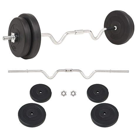tidyard Conjunto de Mancuernas Ajustables 30kg para Entrenar Pecho Bíceps Brazos Tríceps y Los Músculos Negro