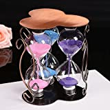 Plum blossom hourglass 3 in 1 creative craft ornaments simple home sand hour ornaments hourglass timer , 135*110*110mm
