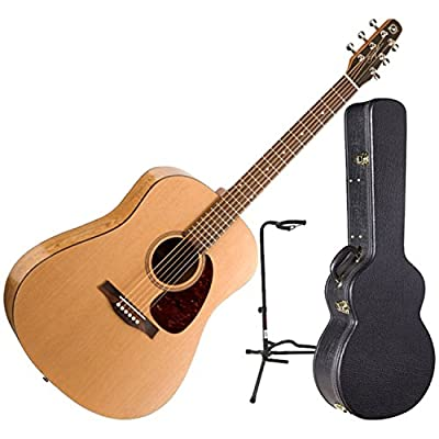 "Seagull S6 ""The Original"" Acoustic Guitar w/Dreadnought Hardshell Case and Guitar Stand"